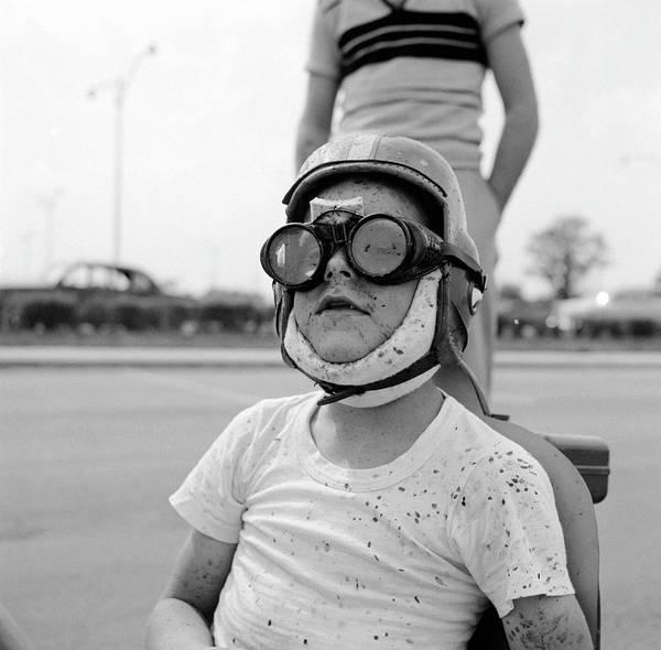 Crash Helmet Photograph - Dare-devil Racer by Ecell
