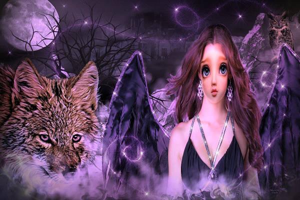 Digital Art - Dark Angel by Artful Oasis