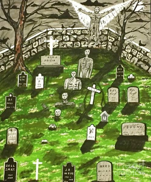 Buried Painting -  Dark Angel Of The Night by Jeffrey Koss