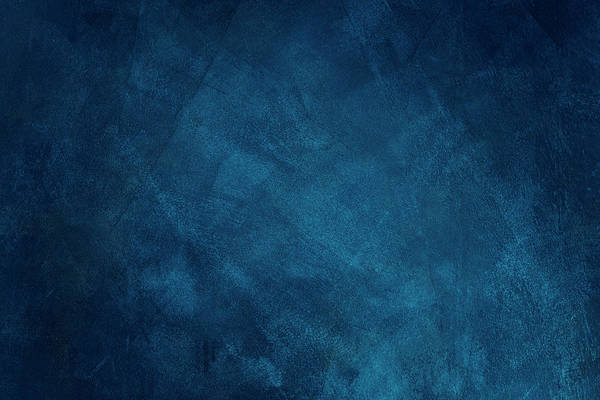 Dark Blue Grunge Background Art Print by Caracterdesign