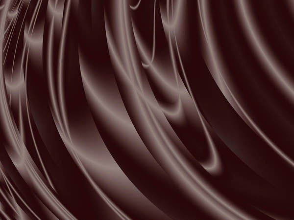 Wall Art - Digital Art - Dark Chocolate Curtain by Rich Leighton
