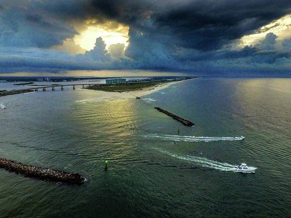 Photograph - Dark Clouds At Perdido Pass by Michael Thomas
