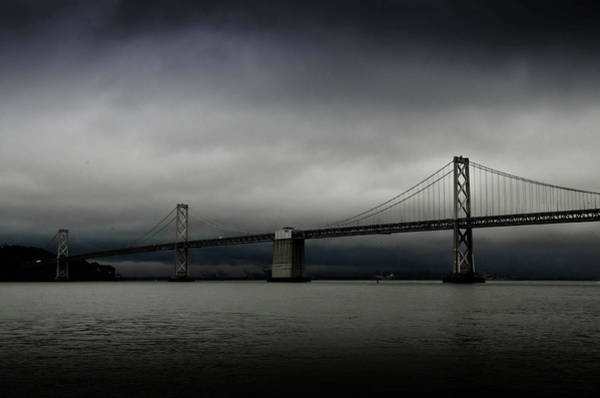 Wall Art - Photograph - Dark Clouds Over Bay Bridge by Image Courtesy Of Sean Go