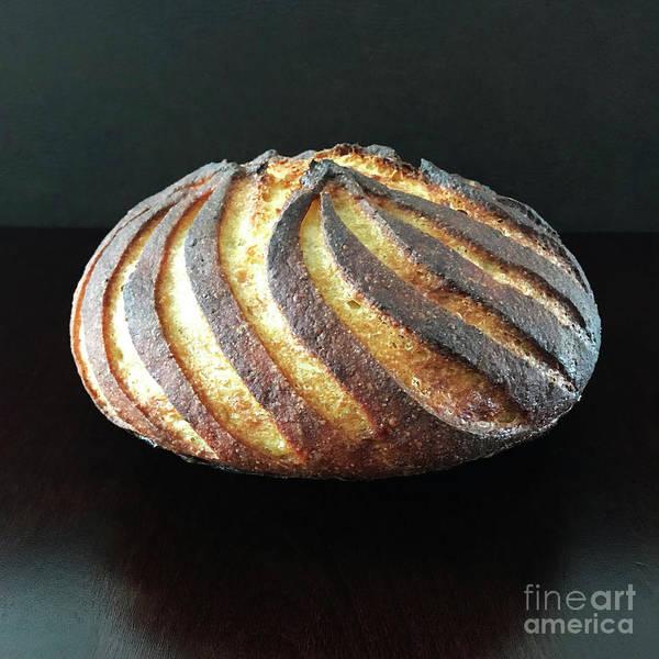 Photograph - Dark Crusted Sourdough Swirl 2 by Amy E Fraser