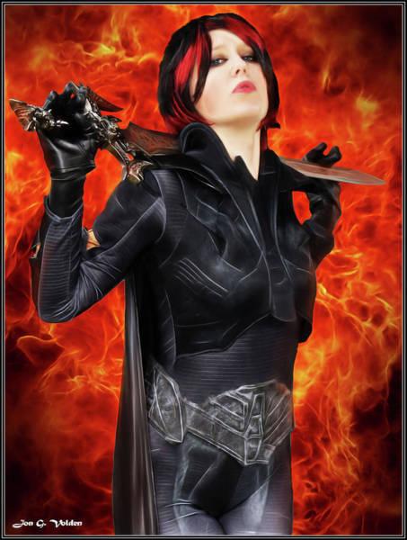 Photograph - Dark Heroine With A Sword by Jon Volden