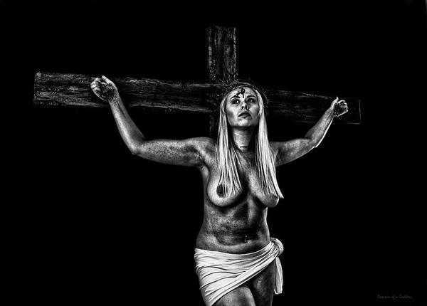 Wall Art - Photograph - Dark Portrait Of A Crucifix I by Ramon Martinez