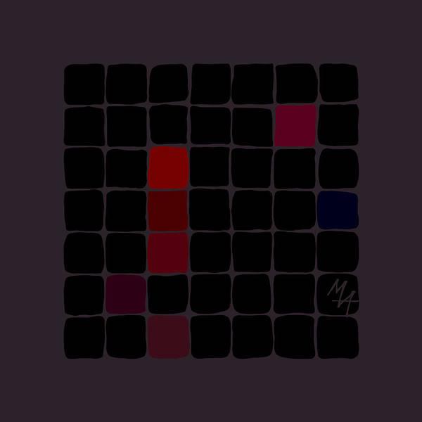 Digital Art - Dark Red by Attila Meszlenyi