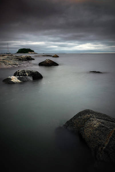 Photograph - Dark Skies Over Tuxis Island by Simmie Reagor