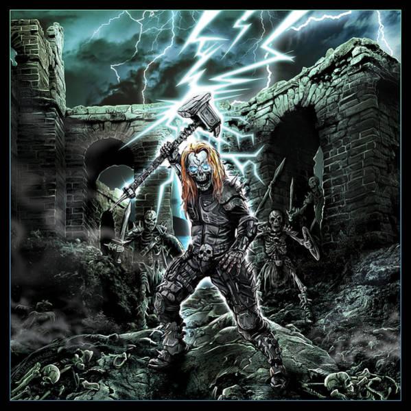Megadeth Wall Art - Digital Art - Dark Thor by Mike Hrubovcak