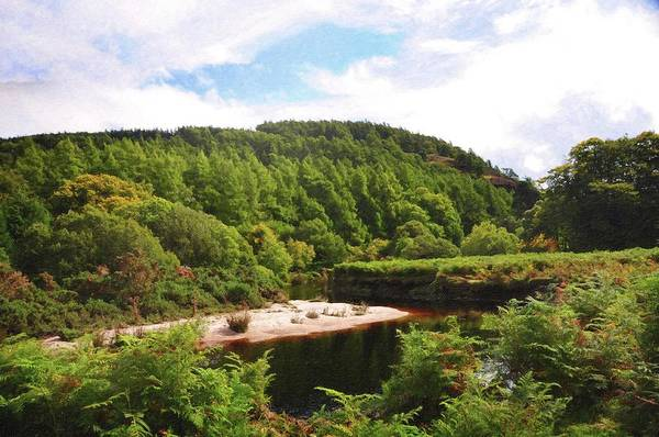 Photograph - Dark Waters. Wicklow Hills by Jenny Rainbow