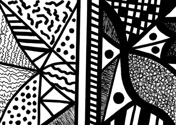 Drawing - Darkness And Light 1 by Susan Schanerman