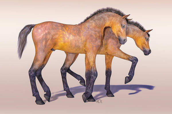 Wall Art - Digital Art - Darling Foal Pair by Betsy Knapp