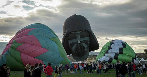 Photograph - Darth In The Middle by Laura Hedien