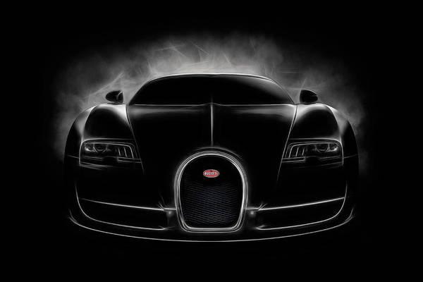 Wall Art - Digital Art - Bugatti Veyron Vitesse In Black by Douglas Pittman