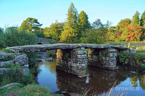 Photograph - Dartmoor Clapper Bridge by David Birchall