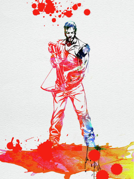 Wall Art - Mixed Media - Daryl Dixon Watercolor by Naxart Studio