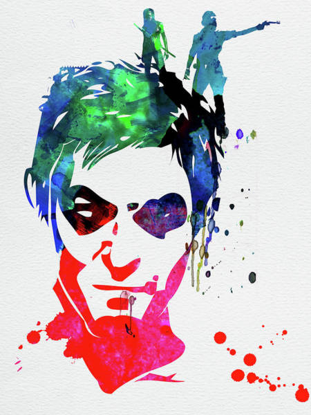 Academy Award Wall Art - Mixed Media - Daryl Watercolor II by Naxart Studio