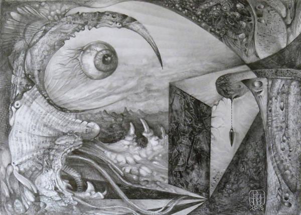 Drawing - Das Unernstlich Schweigende Auge by Otto Rapp