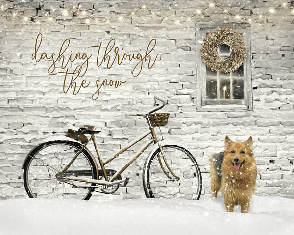 Canine Mixed Media - Dashing Through The Snow 3 by Lori Deiter