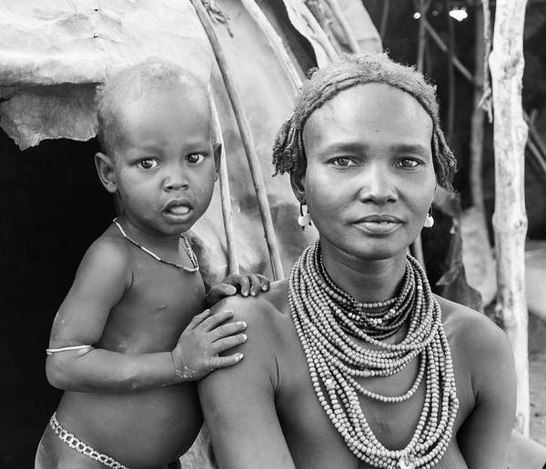 Photograph - Dassanech Mother And Baby 2 by Mache Del Campo