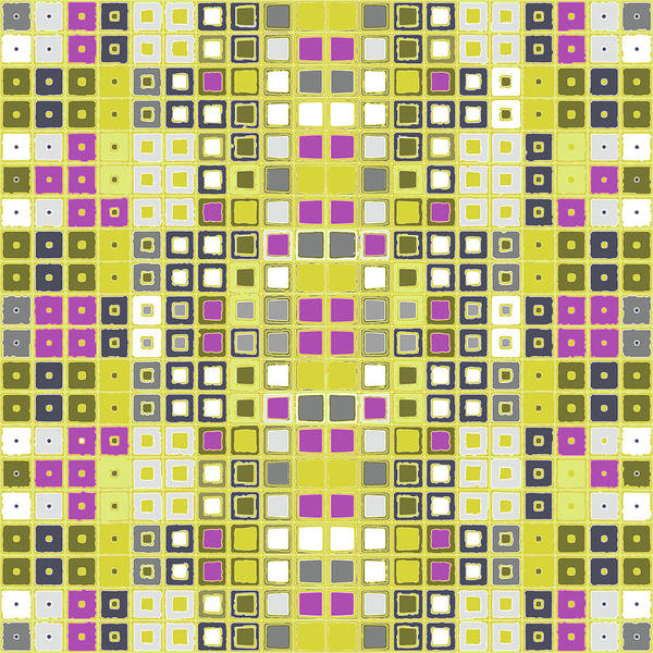 Digital Art - Data Pink And Yellow by Joy McKenzie