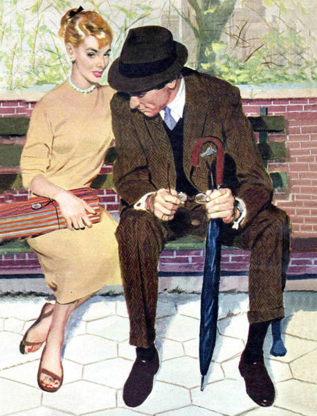 Wall Art - Painting - Date In The Park by Long Shot
