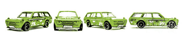Sixties Photograph - Datsun 510 Comic Strip by Jorgo Photography - Wall Art Gallery