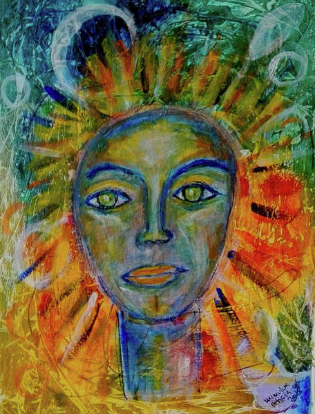 Painting - Daughter Of The Sun And Moon by Mimulux patricia No