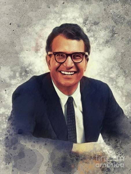 Wall Art - Painting - Dave Brubeck, Music Legend by John Springfield
