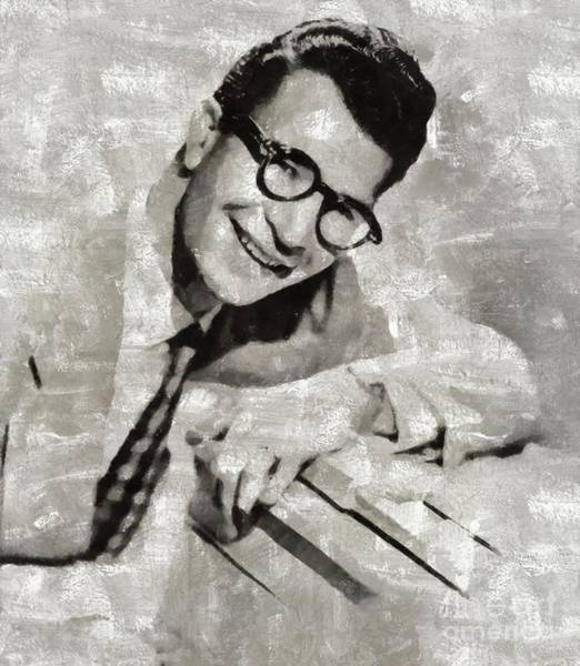 Wall Art - Painting - Dave Brubeck, Music Legend by Mary Bassett