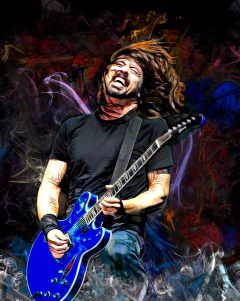 Foo Fighters Wall Art - Digital Art - Dave Eric Grohl  by Scott Wallace Digital Designs
