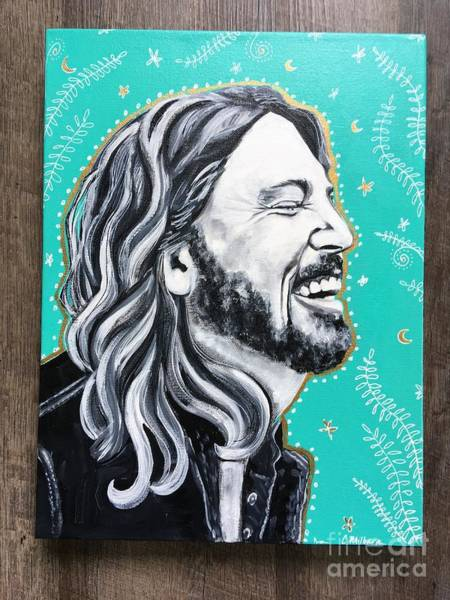 Dave Grohl Painting - Dave Grohl by Carrie Milburn