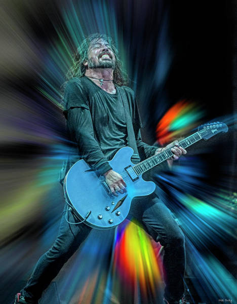 Wall Art - Mixed Media - Dave Grohl Live On Stage by Mal Bray
