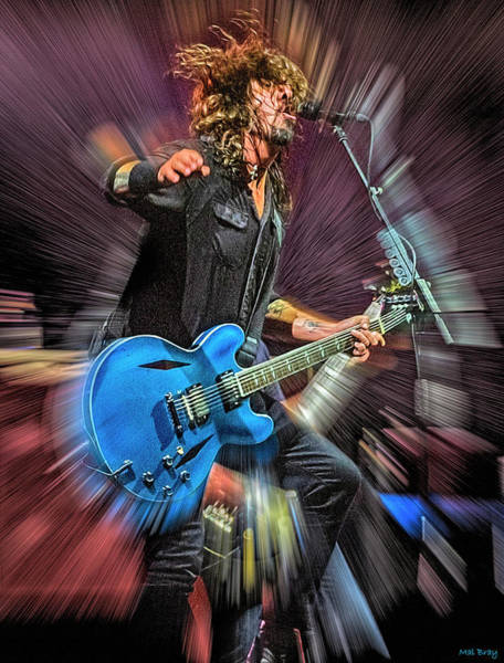 Foo Fighters Wall Art - Mixed Media - Dave Grohl  by Mal Bray