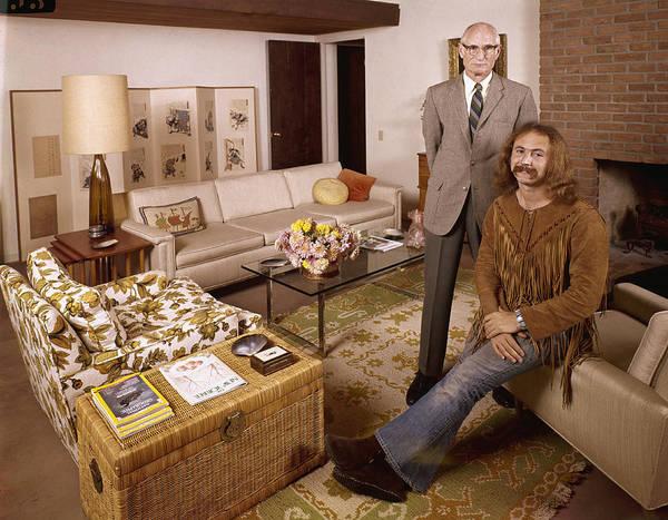 Armchair Photograph - David And Floyd Crosby by John Olson