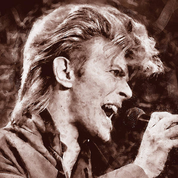 Painting - David Bowie - 19 by Andrea Mazzocchetti