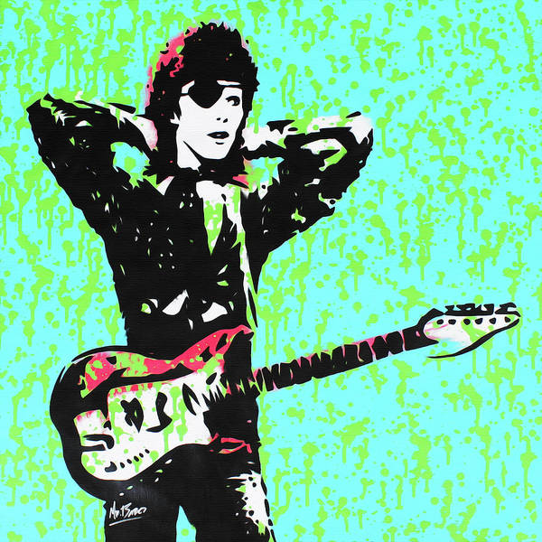 Ziggy Stardust Painting - David Bowie - Halloween Jack by Mr Babes