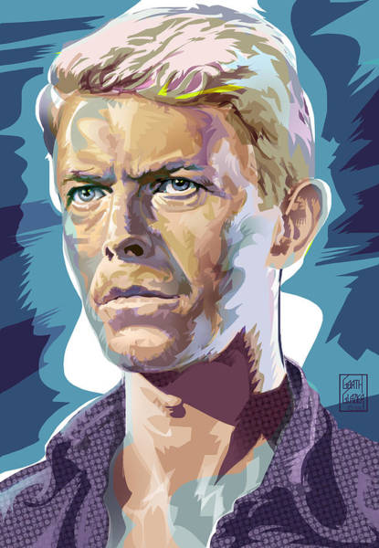 Wall Art - Digital Art - David Bowie Pop Art Portrait by Garth Glazier