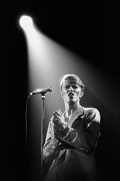 White Rose Photograph - David Bowie In Concert by George Rose