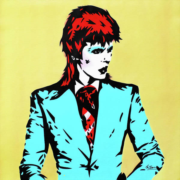 Ziggy Stardust Painting - David Bowie - Life On Mars by Mr Babes