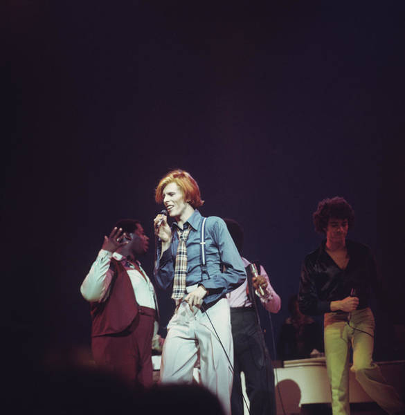 Radio City Music Hall Photograph - David Bowie On Stage In New York by Steve Morley