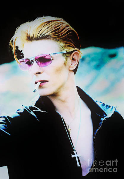 Mixed Media - David Bowie On The Set Of The Man Who Fell To Earth 1976 by Kultur Arts Studios