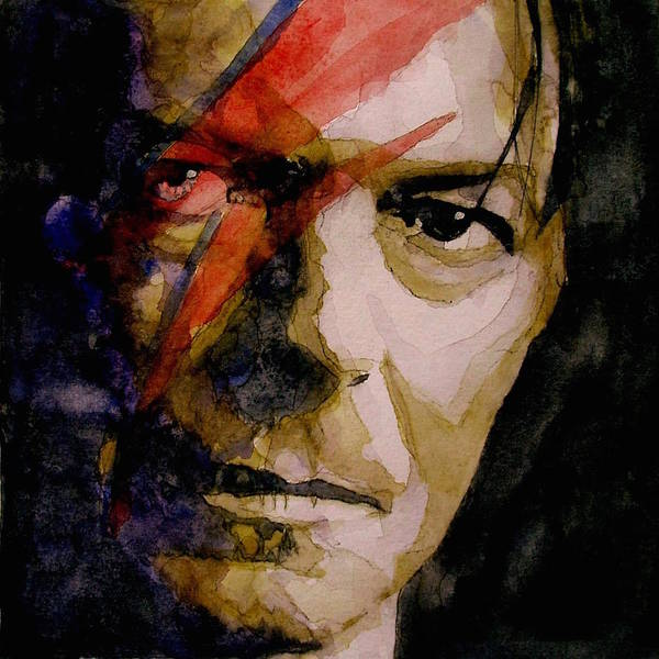 Bowie Painting - David Bowie - Past And Present  by Paul Lovering