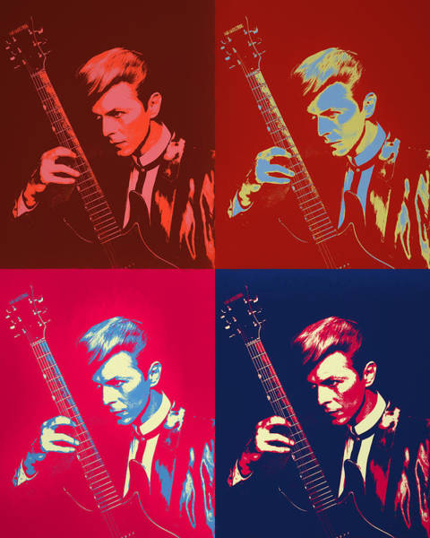Wall Art - Painting - David Bowie Pop Art Panels by Dan Sproul