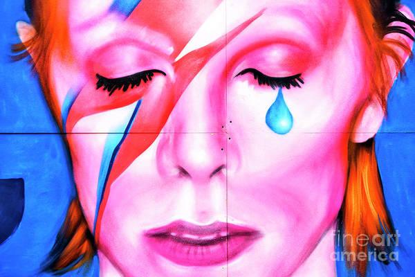 Photograph - David Bowie Tear New York City by John Rizzuto