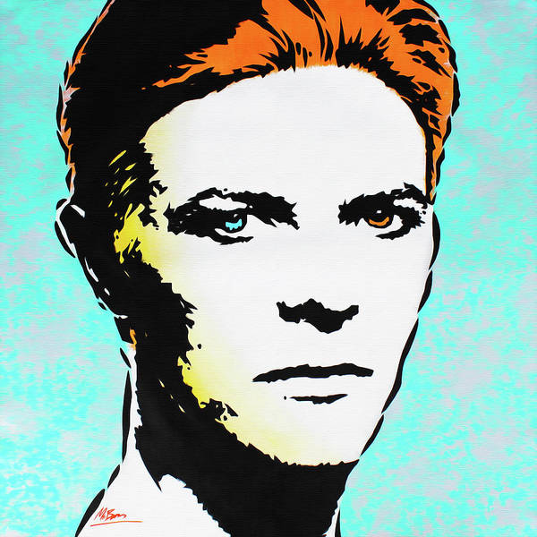 Wall Art - Painting - David Bowie - The Man Who Fell To Earth by Mr Babes