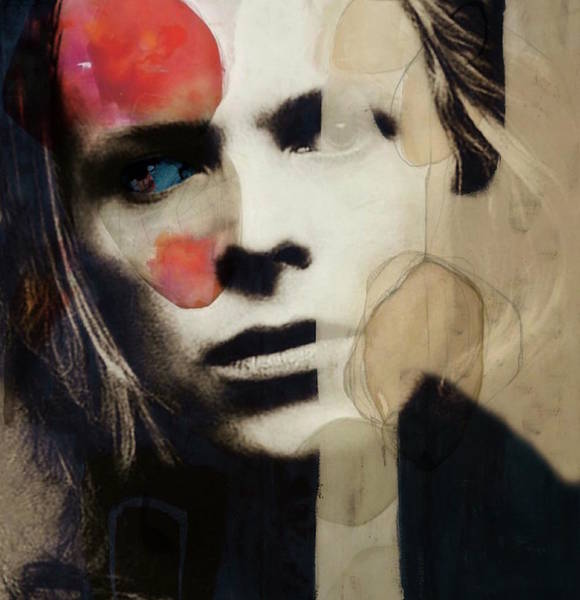 Wall Art - Mixed Media - David Bowie - This Is Not America  by Paul Lovering