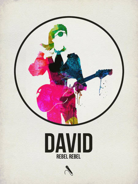 Hard Rock Wall Art - Digital Art - David Bowie Watercolor by Naxart Studio