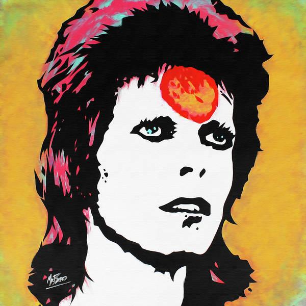 Ziggy Stardust Painting - David Bowie - Ziggy Stardust by Mr Babes
