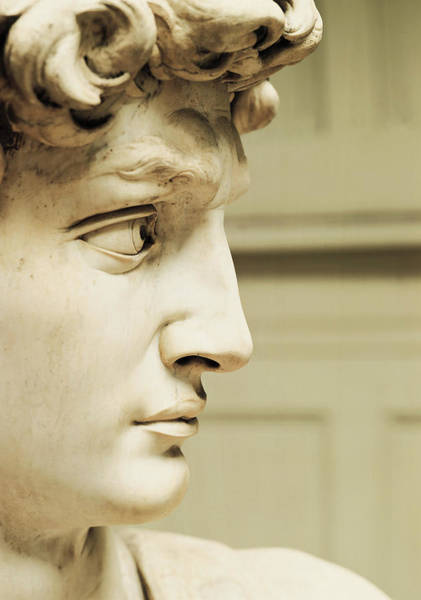 Wall Art - Photograph - David By Michelangelo, White Marble, Detail by Michelangelo